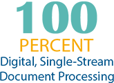 100% digital, single stream document intake