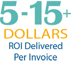 $5-15+ ROI delivered per invoice