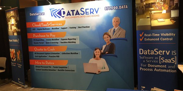 DataServ trade show booth