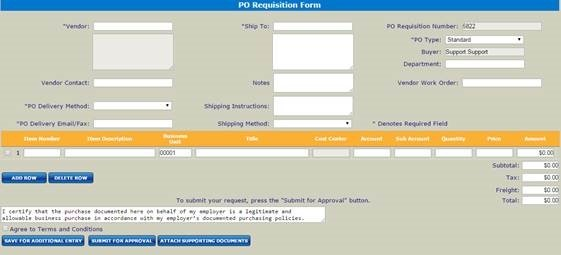 DataServ PO Requisition Form