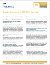 Keys to Scanning and OCR Effectiveness White Paper