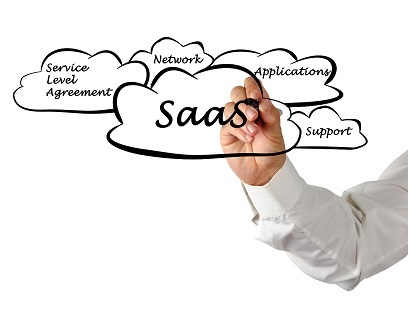 SaaS illustration in clouds