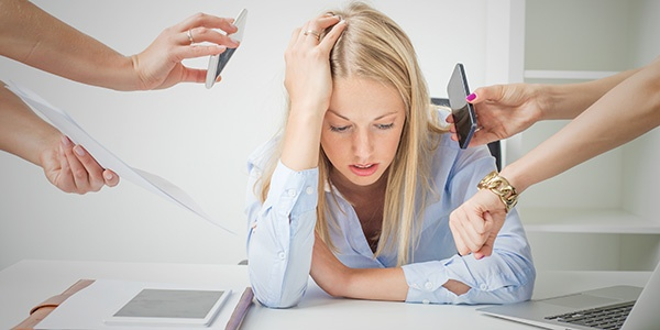 Frustrated businesswoman