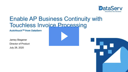 Webinar: Enable AP Business Continuity with Touchless Invoice Processing